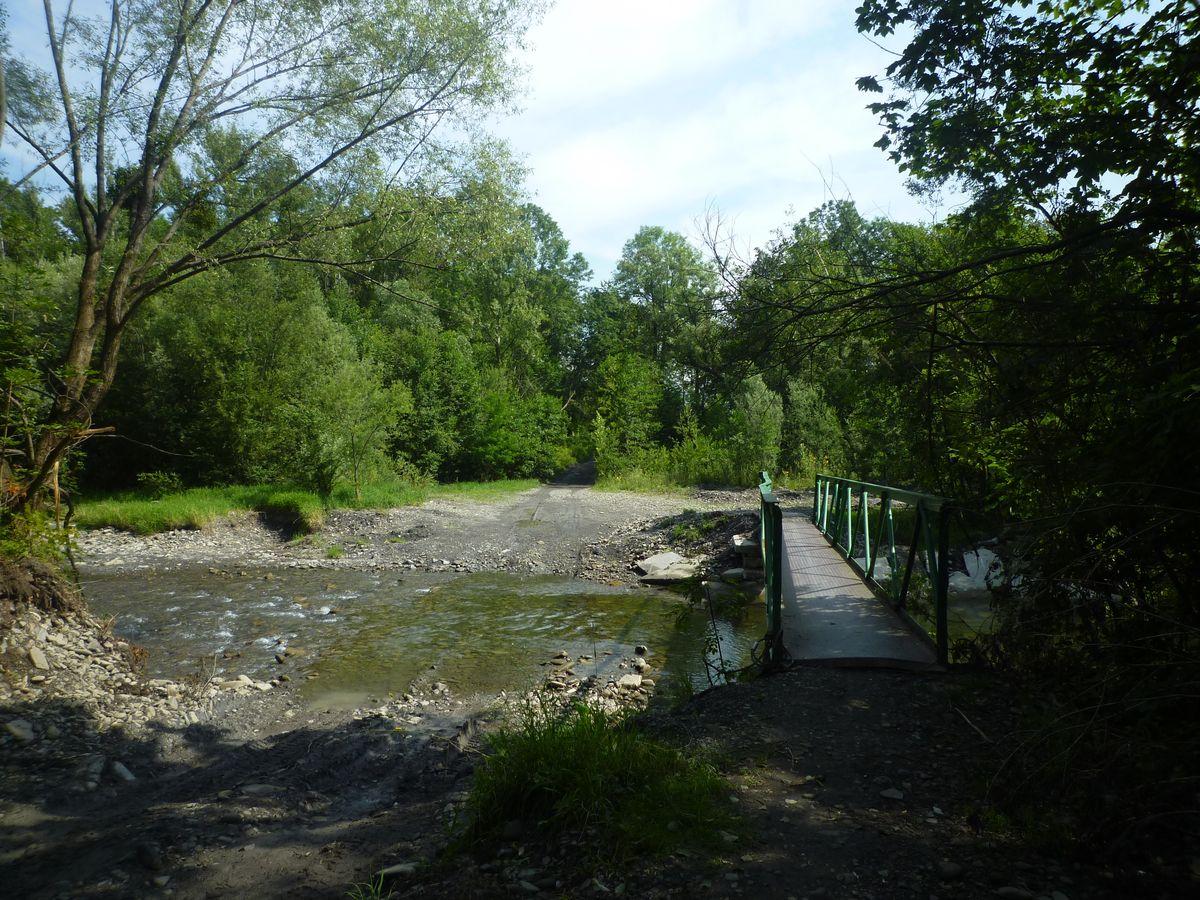 Mostek przez Moravke, którego miało nie być